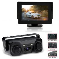 2-in-1 Parking Sensors & Reversing Camera Kit + 4.3