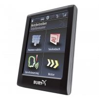 Bury CC9068 2.8″ touch-screen handsfree bluetooth kit, dual phone capability, voice menu / dialling & memo functions (includes fitting)