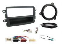 CTKDC02 Dacia Duster, Sandero Grey Single Din Car Stereo Fascia Wiring Fitting Kit