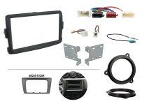 CTKDC03 Dacia Duster, Sandero Grey Double Din Car Stereo Fascia Wiring Fitting Kit