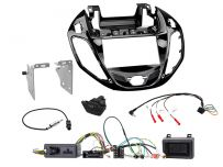 CTKFD38C Ford B-Max Piano Black Double Din Stereo Fascia Fitting Kit With Hazard/Door Lock Switch