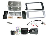 CTKFD67 Ford Focus, Mondeo Silver Double Din Car Stereo Fascia Fitting Kit