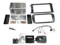 CTKFD68 Ford Focus, Mondeo Matt Black Double Din Car Stereo Fascia Fitting Kit