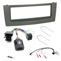 Fiat Grande Punto Double Din Car Stereo Facia Fitting Kit with Steering Controls