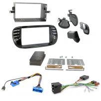 Fiat 500 Car Fascia Adaptor Facia Panel Fitting Kit + Steering Control Interface