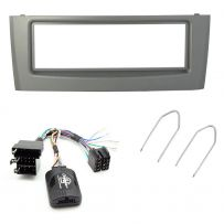 Fiat Grande Punto Double Din Car Stereo Fascia Fitting Kit w/ Steering Controls