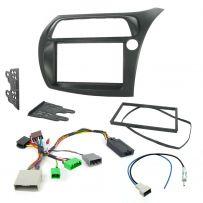 Honda Civic Hatchback Car Stereo Fascia Fitting Kit with Stalk Interface Adaptor