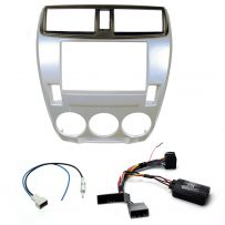 Honda City Car Stereo Fitting Double Din Fascia Adaptor Kit + Steering Controls