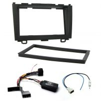 Honda CRV 07-11 Car Stereo Steering Controls Double Din Fascia Panel Fitting Kit