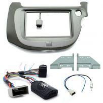 Honda Jazz 09-15 Double Din Car Stereo Facia Fitting Kit Steering Wheel Controls