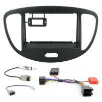 Hyundai i10 08-12 Car Stereo Fascia Panel Fitting Kit With Steering Controls