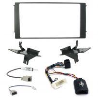 Hyundai Santa Fe 07-12 Car Stereo Fascia Panel Fitting Kit w/ Steering Interface