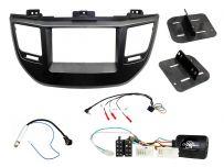 CTKHY20 Hyundai Double Din Car Stereo Fascia Installation Fitting Kit Black LHD Vehicles