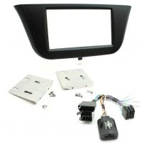 Iveco Daily Double Din Car Stereo Fascia Panel Fitting Kit w/ Steering Controls