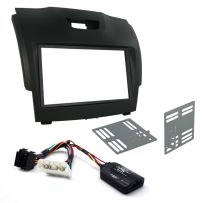 CTKIZ02 - Car Stereo Fitting Kit with Stalk Control Adaptor, Black Double Din