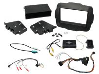 CTKJP01 Jeep Renegade Black Double Din Car Stereo Fascia Fitting Kit