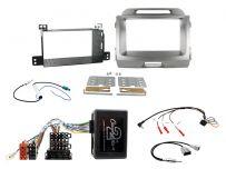 CTKKI14 Kia Sportage Amplified System Light Grey Metalic Double Din Stereo Fascia Fitting Kit