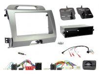 CTKKI29 Kia Sportage Silver Grey Single/Double Din Car Stereo Fascia Fitting Kit