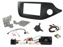 CTKKI31  Kia Ceed , Pro Ceed Matt Black Double Din Car Stereo Fascia Fitting Installation Kit