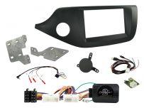 CTKKI32 Kia Ceed, Pro Ceed Matt Black Double Din Car Stereo Installation Kit Left Hand Drive vehicles