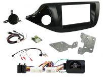 CTKKI33 Kia Ceed , Pro Ceed Piano Black Double Din Car Stereo Fascia Fitting Kit Left Hand Drive Vehicles
