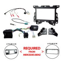 CTKMB25 Mercedes Sprinter W907 2018 Onwards Double Din Complete Fitting Kit