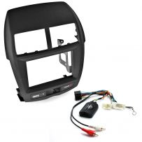 Mitsubishi ASX Double Din Fascia Panel Steering Controls Car Stereo Fitting Kit