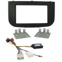 Mitsubishi Colt 09-15 Double Din Fascia Steering Controls Car Stereo Fitting Kit