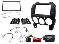 CTKMZ09 Double Din Fascia Panel Installation Kit for Mazda 2 2008 - 2014 Panasonic Headunit