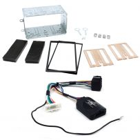 Double Din Fascia Steering Control Car Stereo Fitting Kit for Nissan Qashqai 2007-13
