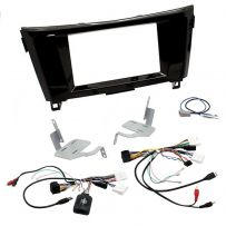 Car Stereo Fitting Kit Double Din Facia Steering Control for Nissan Qashqai 2015-19