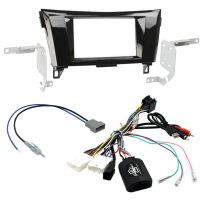 DoubleDin CarStereo Fascia Fitting Kit & Steering Interface For Nissan Qashqai/X-Trail 2015-2019