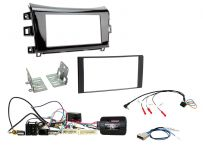 Double Din Car Stereo Fascia Complete Installation Fitting Kit Gloss Black For Nissan Navara 2015>