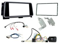 CTKNS13 Double Din Stereo FasCTKNS13 Double Din Stereo Fascia, Steering Control Fitting Kit for Nissan Micra 2020 Onwards