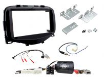 CTKPE07 Peugeot 108 Piano Black Double Din Car Stereo Fascia Complete Installation Fitting Kit
