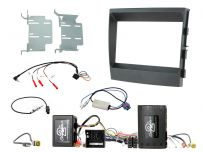 CTKPO07 Porsche Panamera Amplified Black Double DIN Complete Installation Fitting Kit