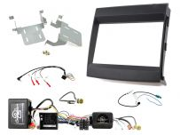 CTKPO09 Porsche Cayenne Amplified Black Double DIN Facia Complete Installation Kit
