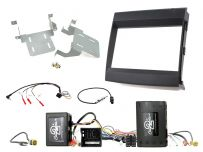 CTKPO11 Black Double DIN Facia Installation Fitting Kit for Porsche Cayenne 2012 - 2016 Amplified