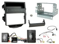 CTKPO15 Porsche Macan Installation Kit. double DIN Fiber-optic amplified vehicles with MOST 25 systems Quadlock connectors