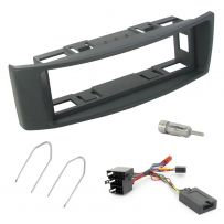 Renault Megane >2006 Single Din Fascia Steering Controls Car Stereo Fitting Kit