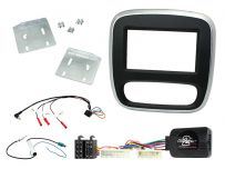 CTKRT07 Renault Trafic 2015 Onwards Silver/Black Double Din Car Stereo Fascia Fitting Kit
