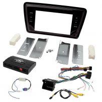 Skoda Octavia Double Din Facia Panel w/ Steering Controls Car Stereo Fitting Kit