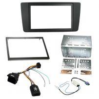 Skoda Yeti 2014-15 Double Din Facia Steering Controls Car Stereo Fitting Kit