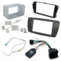 Seat Ibiza 2008-12 Double Din Fascia Steering Controls Car Stereo Fitting Kit