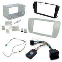 Seat Ibiza 6J Double Din Facia Panel Car Stereo Fitting Kit w/ Steering Controls