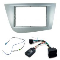 Seat Leon Mk2 1P Double Din Fascia w/ Steering Controls Car Stereo Fitting Kit