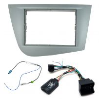 Seat Leon 2005-12 Double Din Fascia Car Stereo Fitting Kit w/ Steering Controls