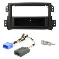 Suzuki SX4 Double Din Fascia Panel w/ Steering Controls Car Stereo Fitting Kit