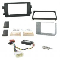 Suzuki SX4 Double Din Car Stereo Fitting Kit Fascia Panel With Steering Control
