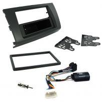 Suzuki Swift Double Din Fascia Panel w/ Steering Controls Car Stereo Fitting Kit